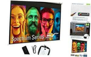 Spectrum Electric Motorized Projector Screen With Multi 120 Diagonal 4 3