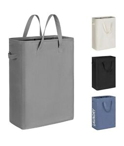 Laundry Hamper With Support Brackets Slim Thin Laundry Basket With Handle