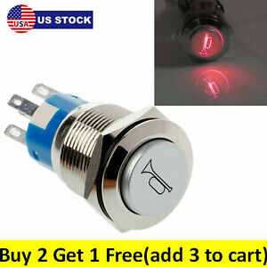 12v 16mm Car Boat Led Light Momentary Horn Button Vehicle Switch Push Buttons Us