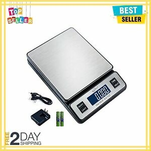 Stainless Steel Digital Postal Scale Shipping Scale With Ac Adapter Durable New