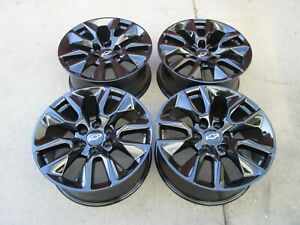 20 Chevy 1500 Factory Oem Wheels Rims Gmc 1500 Set 4 2020 Black