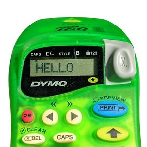 Dymo Letra Tag 2000 Label Maker Handheld Green Tested Working