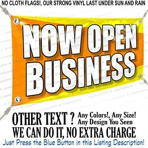 Now Open Business Custom Vinyl Banner Personalized Outdoors Sign