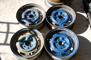 Triumph Spitfire Factory Square Hole Steel Wheels Set Of 4