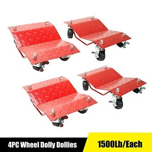 Heavy Duty Tire Car Wheel Dolly Dollies Skate Auto Repair Slide 4pcs 1500lb each