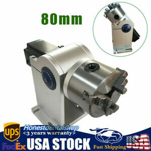 80mm Laser Rotation Axis Rotary Attachment W Driver For Laser Engraving Machine