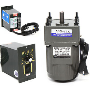 Sale Electric Ac Gear Motor Reducer variable Speed Controller Large Torque 1 15