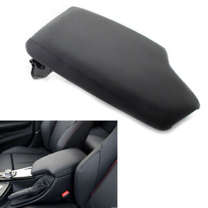 Leather Synthetic Center Console Armrest Cover W Plate Black For Bmw F30 13 19