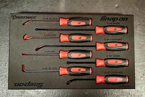 New Snap on Red Soft Grip Mini Combo Picks And Seal Removers Set In Foam