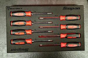 New Snap on Red Soft Grip Mini Combo Screwdriver And Torx Set In Foam