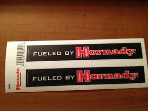 Fueled by Hornady sticker Free shipping $6.50
