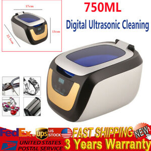 50w 750ml Dental Digital Ultrasonic Cleaner Washing Machine For Jewelry Cleaning