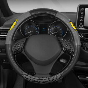 Batman Leather Steering Wheel Cover Universal Size For Car Suv 14 5 15 5