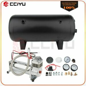 12v 5 Gal Air Tank 200 Psi Air Compressor Onboard System Kit For Car Boat Horn