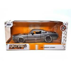 Jada Toys Bigtime Muscle Series 1967 Shelby Gt 500 Grey 1 24 Scale
