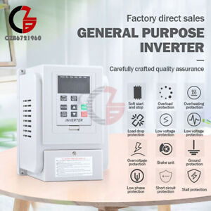 At1 1500x 1 5kw 220v Variable Frequency Drive Inverter Vfd Single Phase Input
