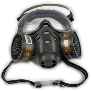Full Face Gas Mask With Safety Glasse Spray Paint Chemical Pesticide Decoration