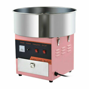 Home Electric Cotton Candy Machine Sugar Floss Maker Commercial Pink