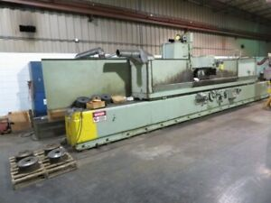 Thompson 16ch Hydraulic Surface Grinder With 4 Electromagnetic Chucks 24 X 40