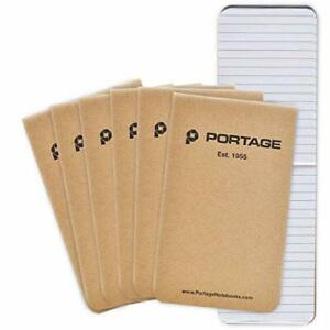 Small Notebook Notepad For Field Notes Lined Paper Pocket 6 Pack Tactical
