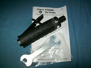 New Snap On Ptgr400gm Cushion Handle 1 4 Collet Air Power Straight Die Grinder