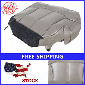 Driver Bottom Seat Cover Fit For 1999 02 Chevy Silverado Tahoe Gmc Gray