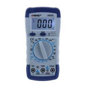 A830l Digital Multimeter Auto ranging Electronic Measuring Instrument Pocket Por