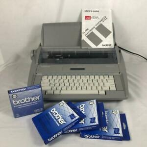 Brother Sx 4000 Electronic Daisey Wheel Typewriter Cover Manual Extras