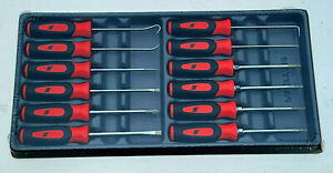 New Snap On Red Soft Grip Mini Tip 4 Torx 4 Screwdriver 4 Picks Sgdxmini12r