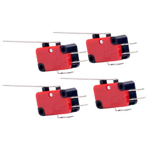Electric Limit Switches Long Hinge Lever 2 Pins Micro Switches