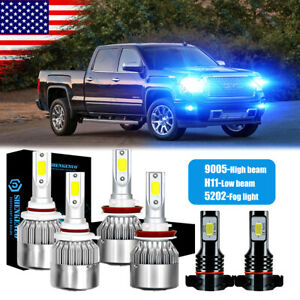 9005 H11 5202 Led Headlight Fog For Gmc Sierra 1500 2500 3500 Hd 2007 2013