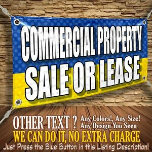 Commercial Property Sale Or Lease Custom Banner Business Sign Allmybanners