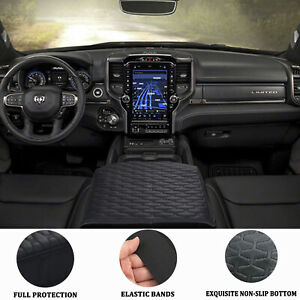 Center Console Cover Armrest Cover Pad Replacement Black For Dodge Ram 2009 2018