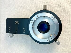 Carl Zeiss Intermediate Tube W 6 Slide Filters 1 Yellow Filter Has Delamination