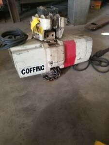 Coffing 2 ton Chain Hoist With Pendant Control And Trolley