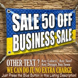 Sale 50 Off Business Sale Custom Banner Business Sign Allmybanners