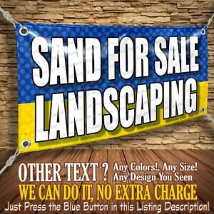 Sand For Sale Landscaping Custom Banner Business Sign Allmybanners