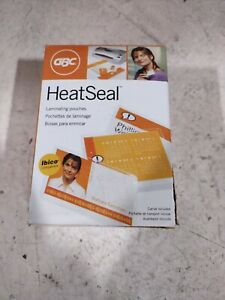 Gbc Thermal Laminating Sheets Pouches Id Card Size 5 Mil Heat Seal U New