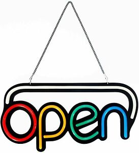 Led Open Sign Bright Multi Color Style Rgb Letter Window display 24 X 12