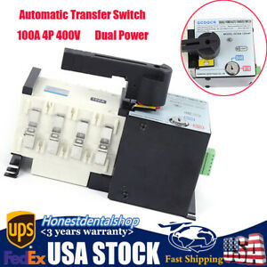 400v 100a 4p Dual Power Automatic Transfer Switch Generator Changeover Switch