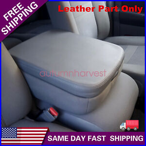For Dodge Ram 2002 2008 Real Leather Center Console Lid Armrest Cover Gray