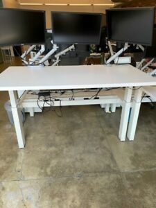Herman Miller Renew Sit to stand Desk set Of Two White Great Condition