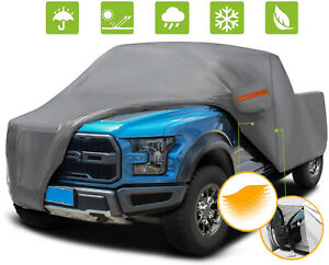 Truck Cover Gray Car Cover Waterproof All Weather Sun Rain Snow Dust Protection