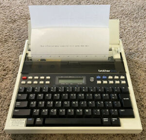 Rare Vintage Brother Ep45 Portable Typewriter Word Processor Tested And Works