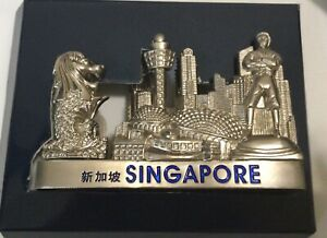 Singapore Vertical Metal Business Card Holder New