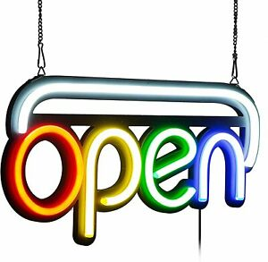 Led Open Sign Bright Multi Color Style Rgb Letter For Business bar shops cafe