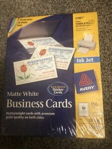 Avery 27881 Inkjet Business Cards Matte White 150 Cards 2 X 3 1 2 Inch