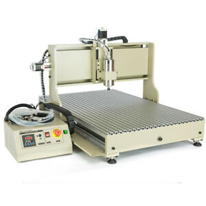 Usb 1 5kw 4 Axis Cnc 6090 Router Engraver Metal Mill Drill Machine Ball Screw 3d