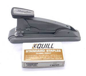 Vintage Working Swingline Speed Stapler No 4 Gray With Vintage Quill Staples