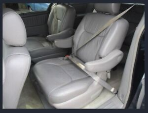 Toyota Sienna Gray Leather Second Row Seats Oem 2004 2010 Models Excellent
